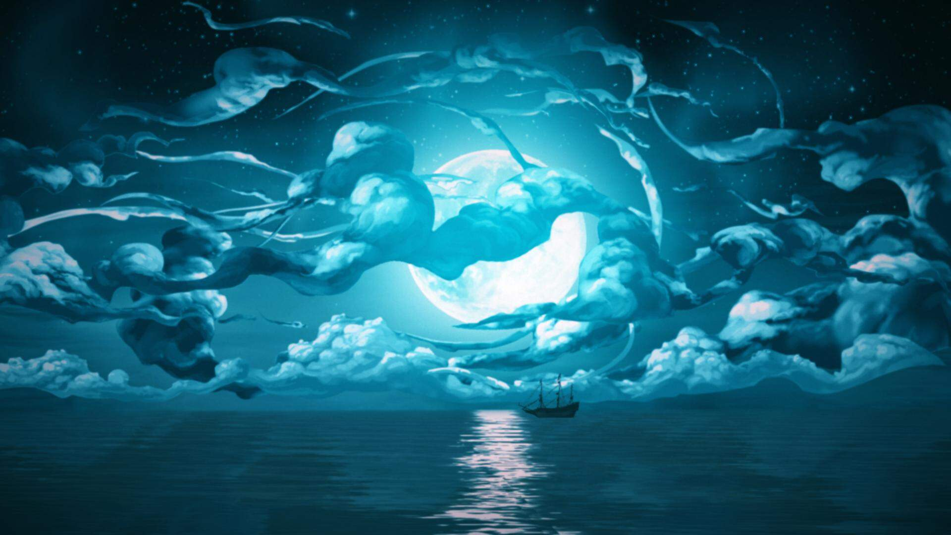 Silence Ozean bei Nacht