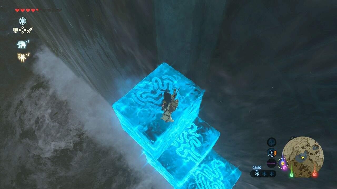 The Legend of Zelda: Breath of the Wild Wasserfälle mit dem Cryomodul erklimmen