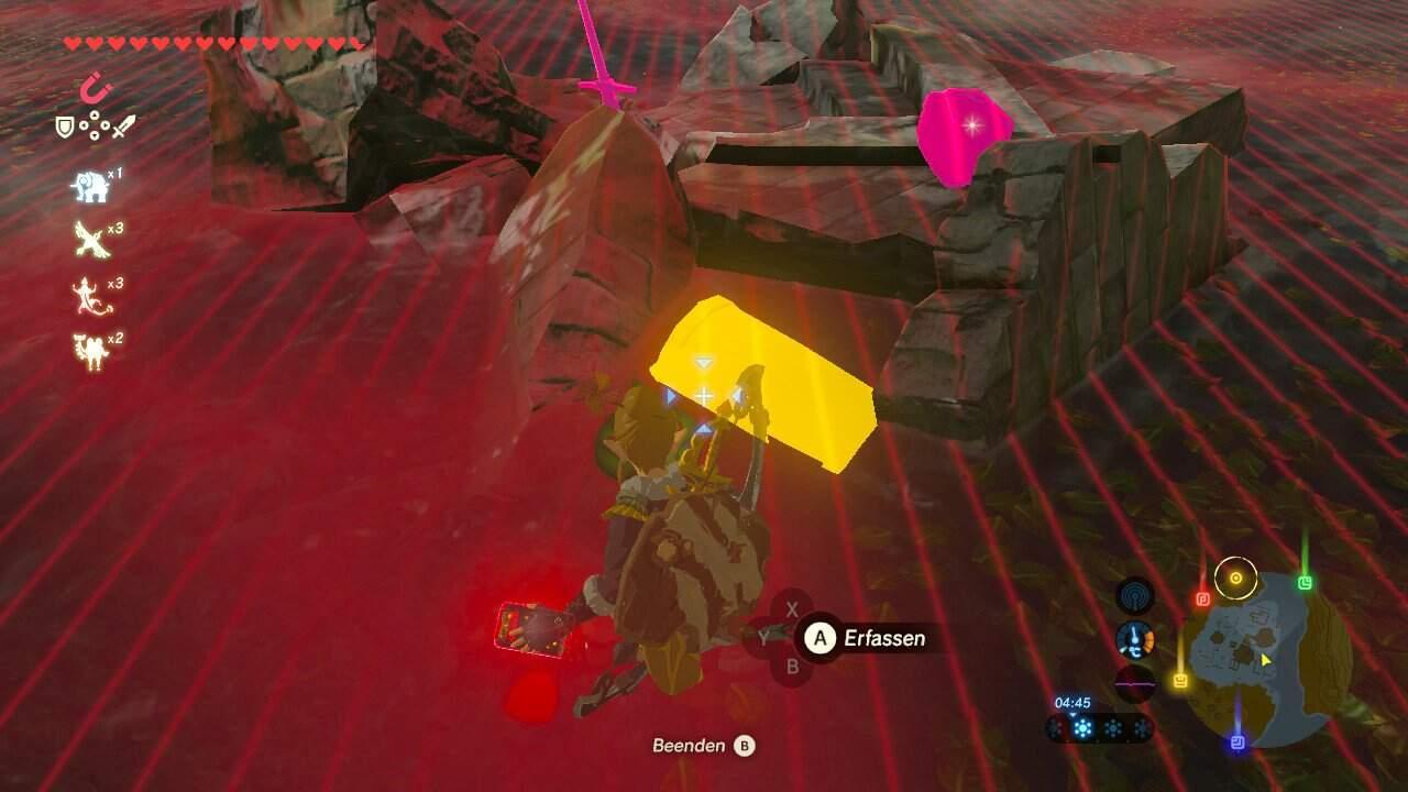 The Legend of Zelda: Breath of the Wild Midnas Krone Fundort