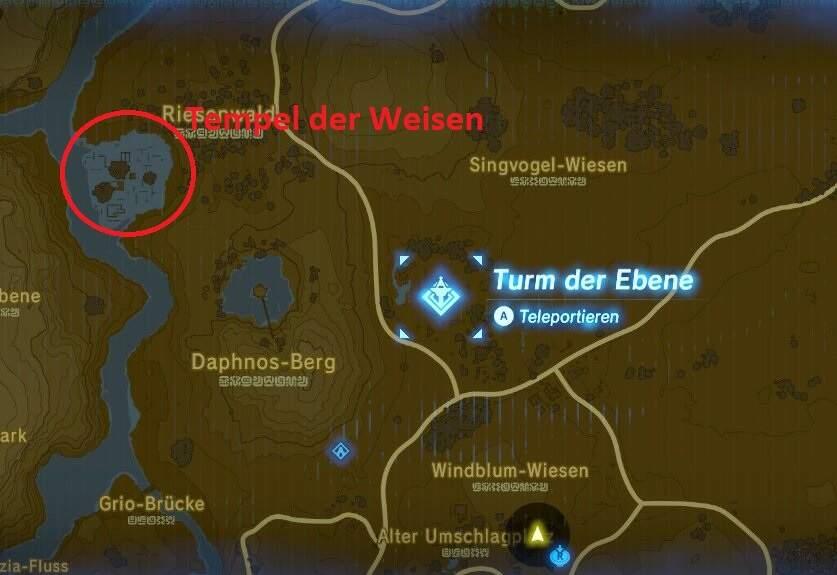 The Legend of Zelda: Breath of the Wild Tempel der Weisen