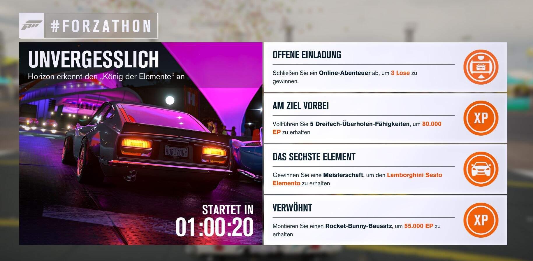Forza Horizon 3 #Forzathon Guide 29. August – Unvergesslich
