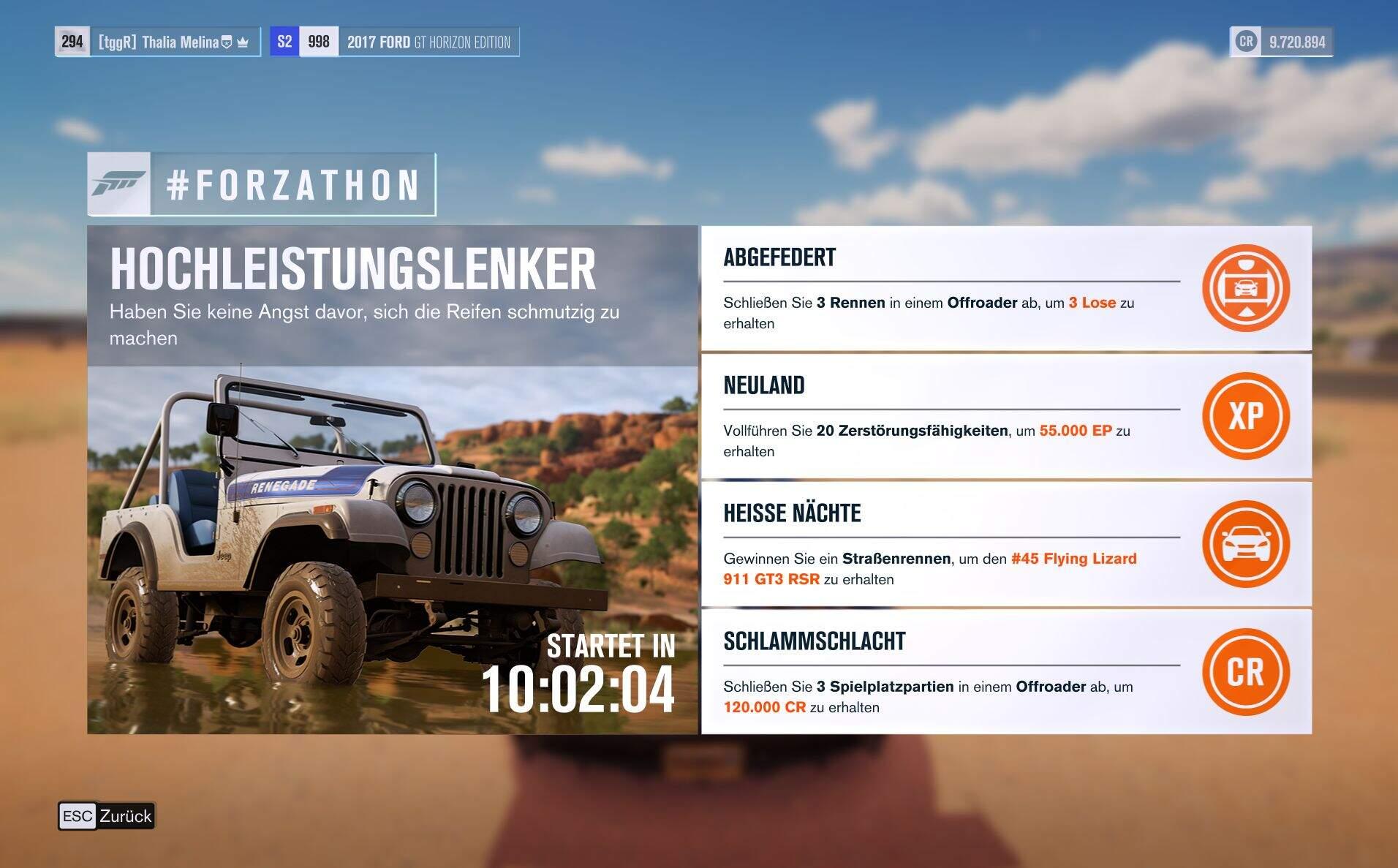 Forza Horizon 3 #Forzathon Guide KW 33 – Hochleistungslenker