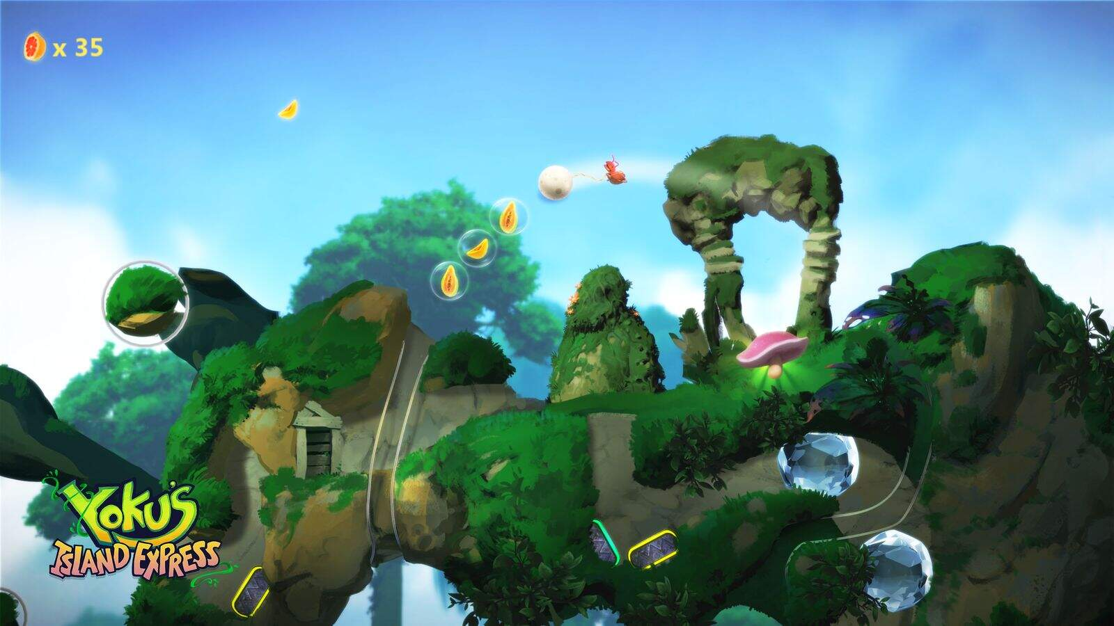 Yoku's Island Express Screenshot 01