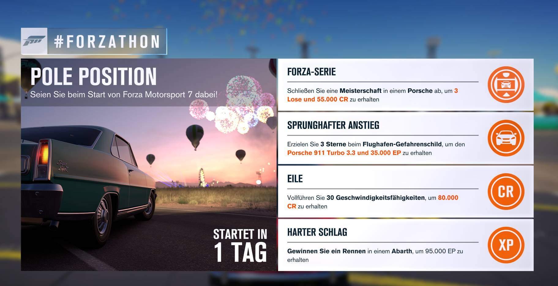 Forza Horizon 3 #Forzathon Guide KW 39 – Pole Position