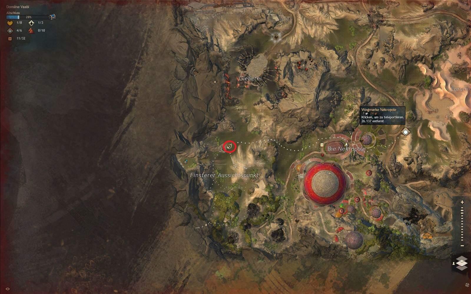 Guild Wars 2: Path of Fire Jacaranda Fundort