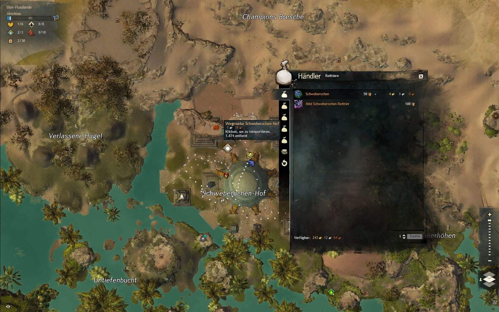 Guild Wars 2: Path of Fire Schweberochen Fundort und Kosten