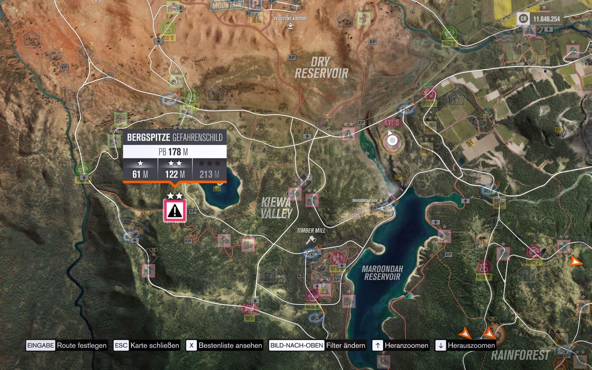Forza Horizon 3 Bergspitze Gefahrenschild