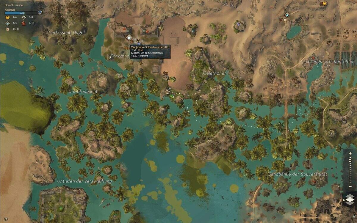 Guild Wars 2: Path of Fire Azurblaues Auengreifen-Ei Fundort