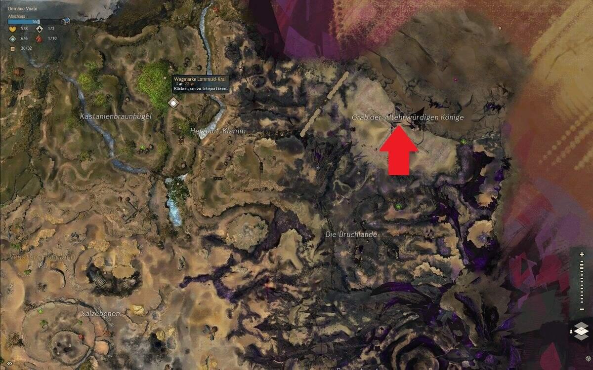 Guild Wars 2: Path of Fire Greif Guide Grab der Altehrwürdigen Könige