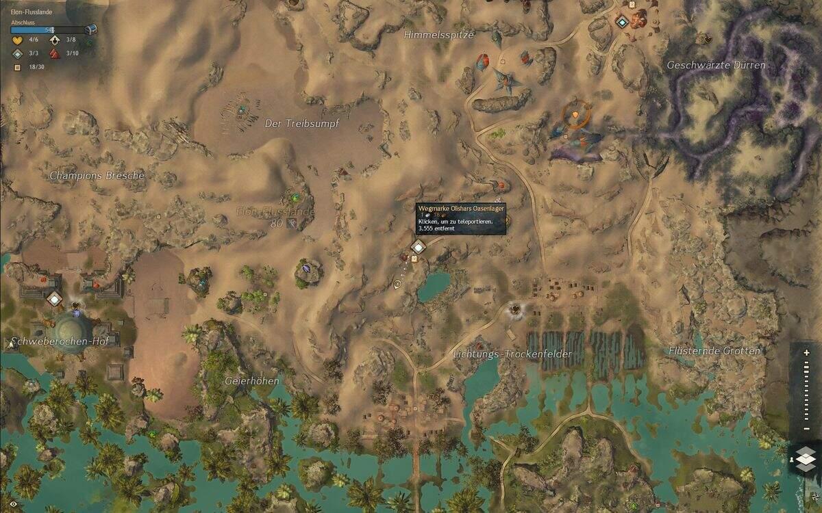 Guild Wars 2: Path of Fire Karten zum Außenposten Fundort
