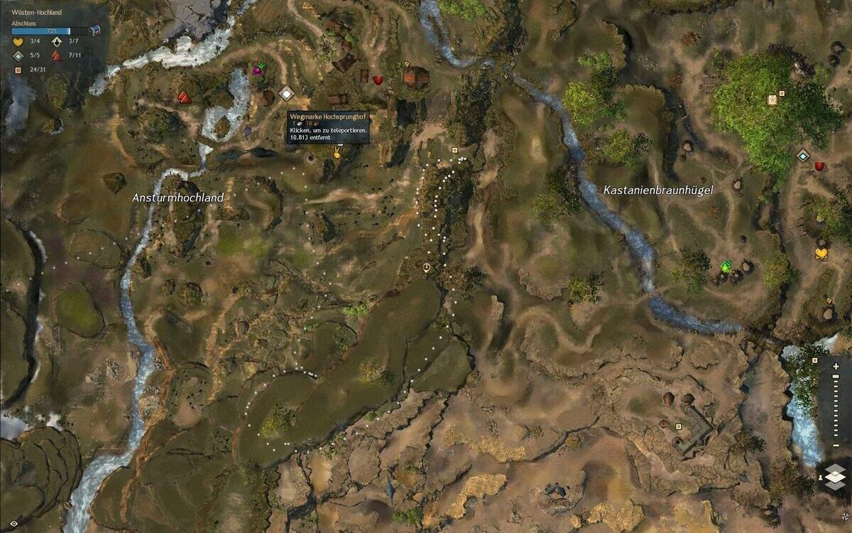 Guild Wars 2: Path of Fire Lebhaftes Gebirgsgreifen-Ei Fundort