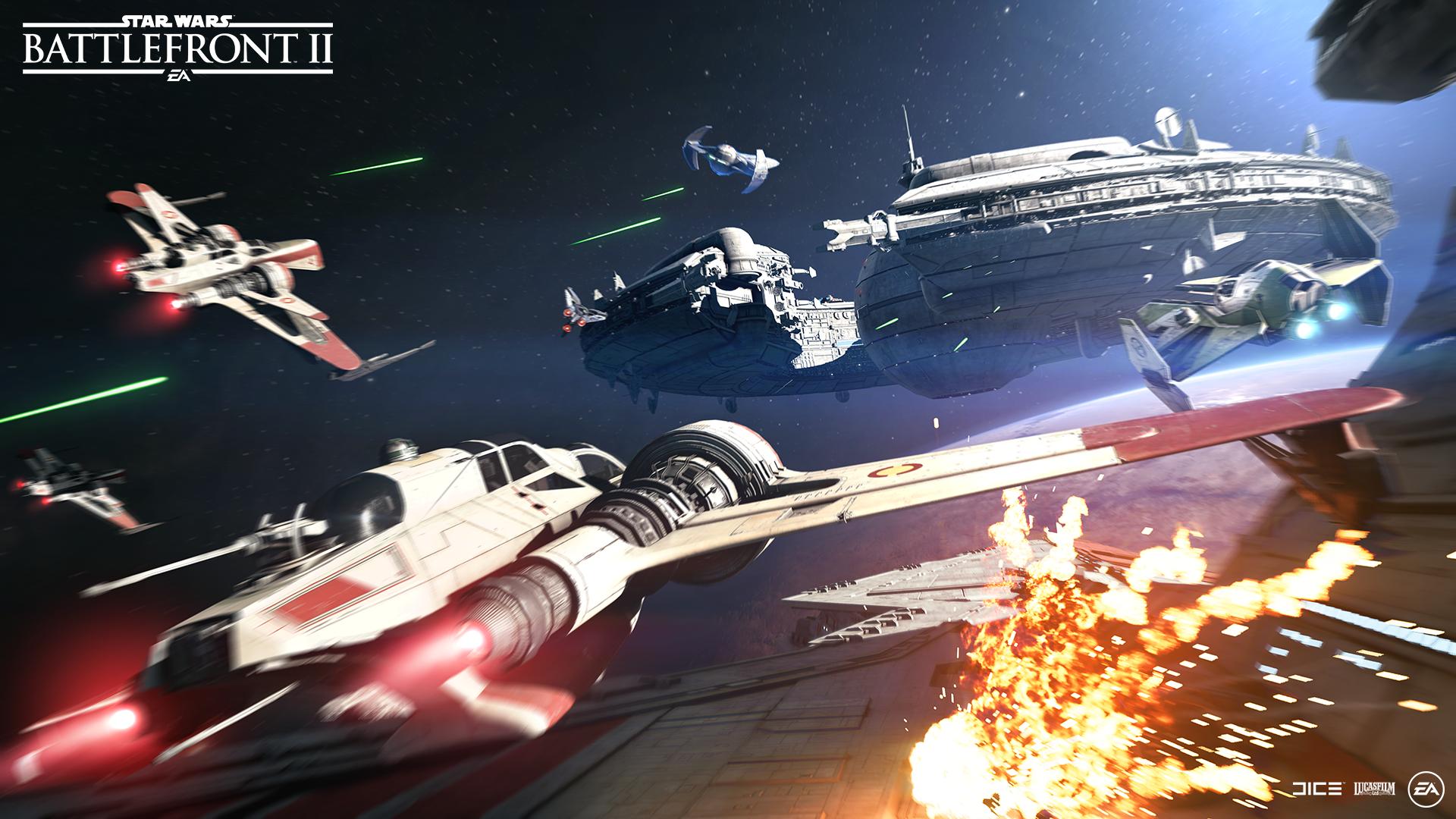 Star Wars Battlefront II Raumschlacht