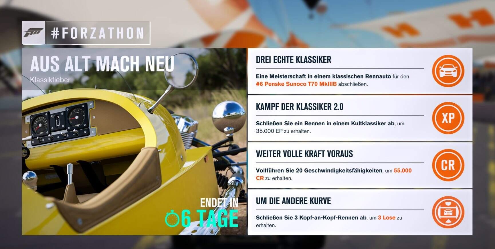 Forza Horizon 3 #Forzathon Guide KW 20 – Aus alt mach neu