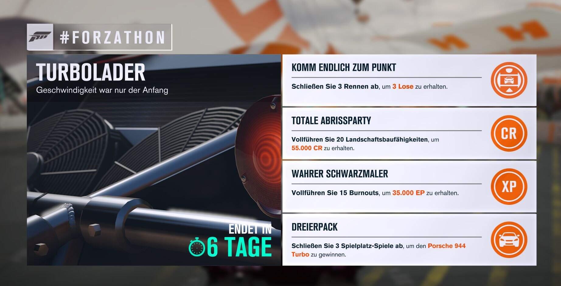 Forza Horizon 3 #Forzathon Guide KW 25 – Turbolader