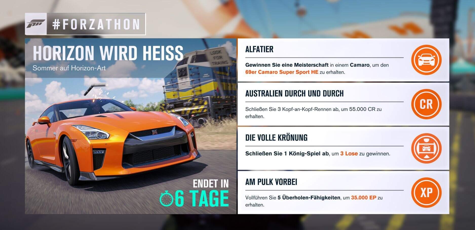 Forza Horizon 3 #Forzathon Guide KW 26 – Horizon wird heiss