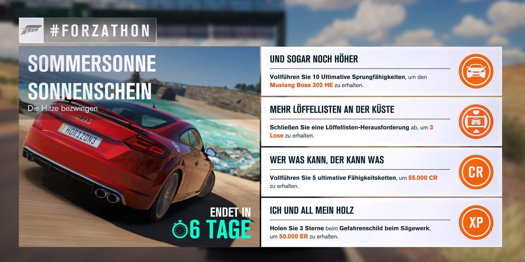 Forza Horizon 3 #Forzathon Guide KW 27 – Sommersonne Sonnenschein
