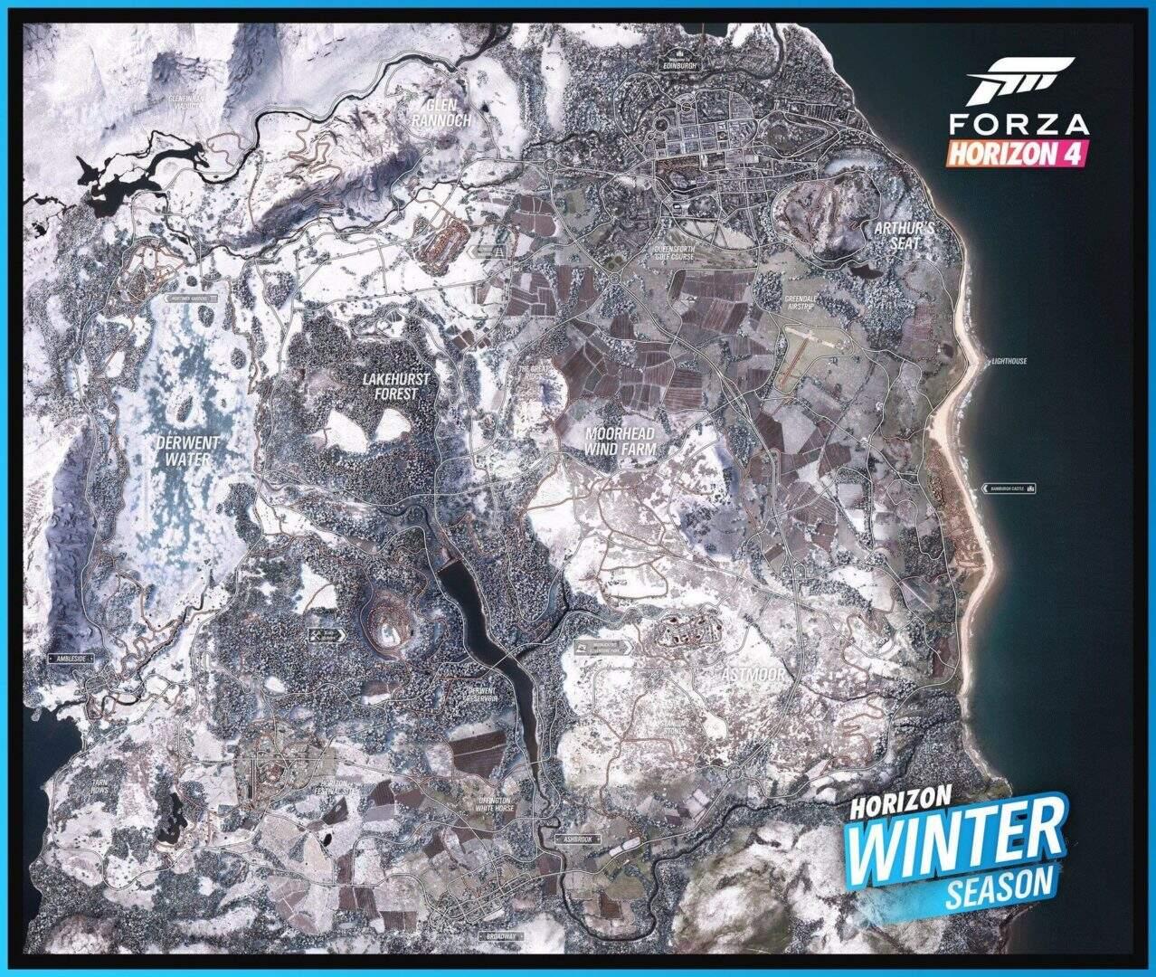Forza Horizon 4 Weltkarte Winter