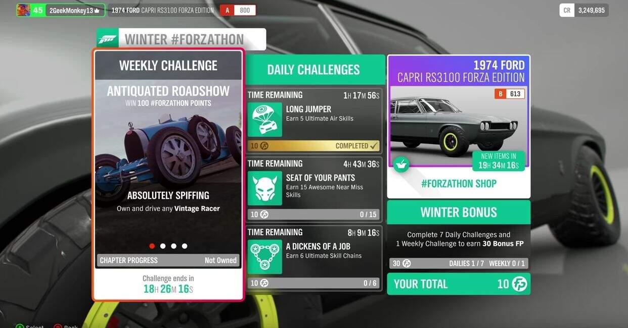 Forza Horizon 4 Forzathon