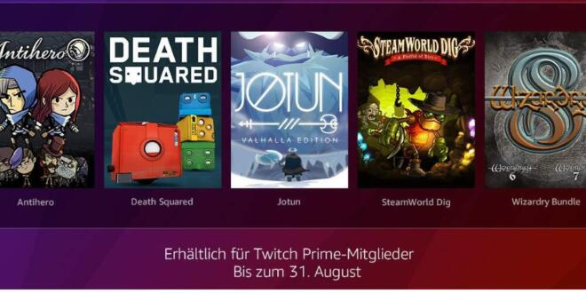 Twitch Prime August