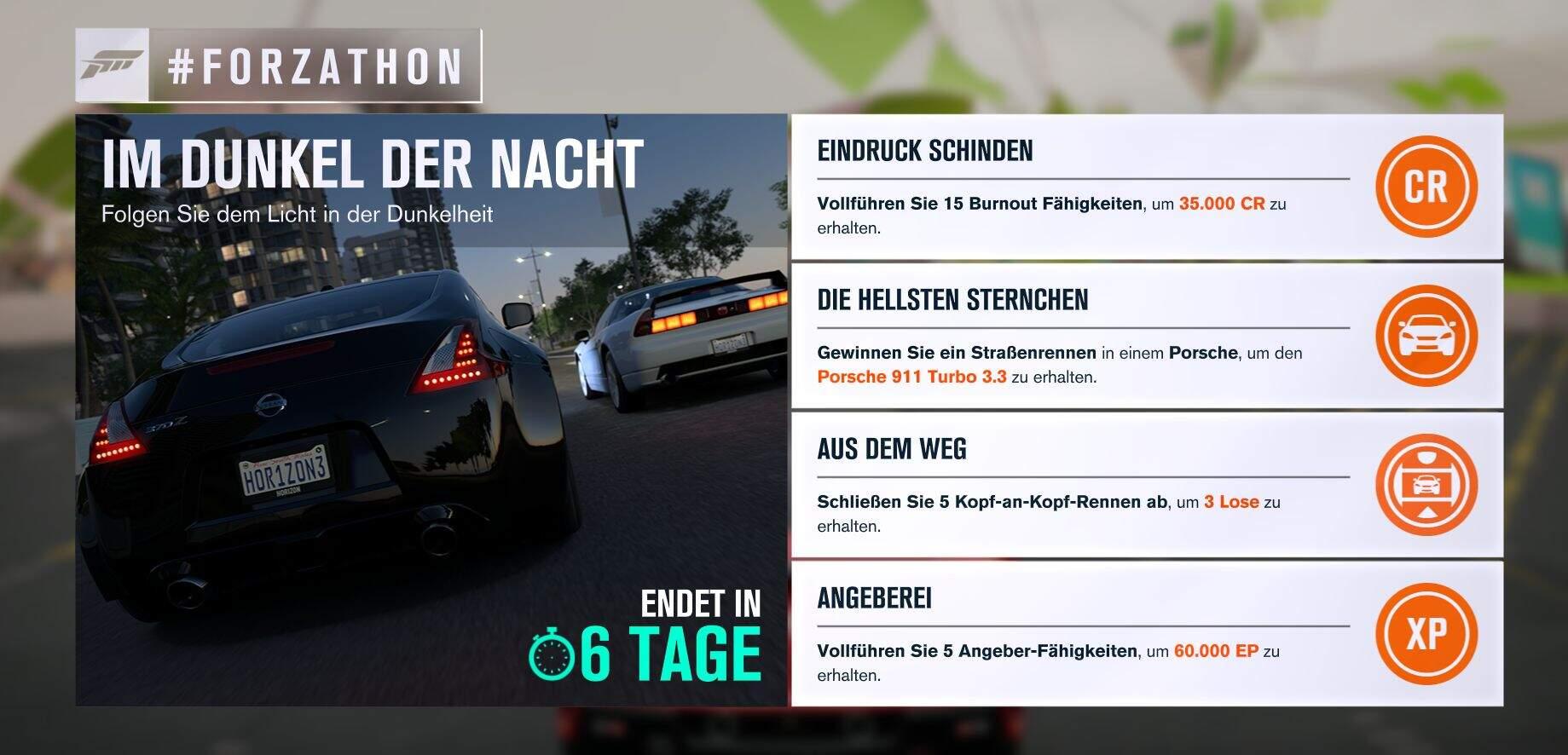 Forza Horizon 3 #Forzathon Guide KW 31 – Im Dunkel der Nacht