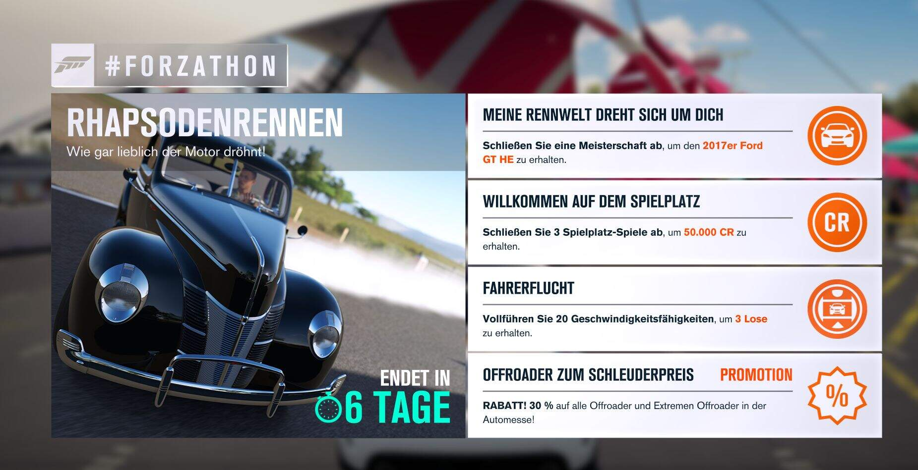 Forza Horizon 3 #Forzathon Guide KW 35 – Rhapsodenrennen