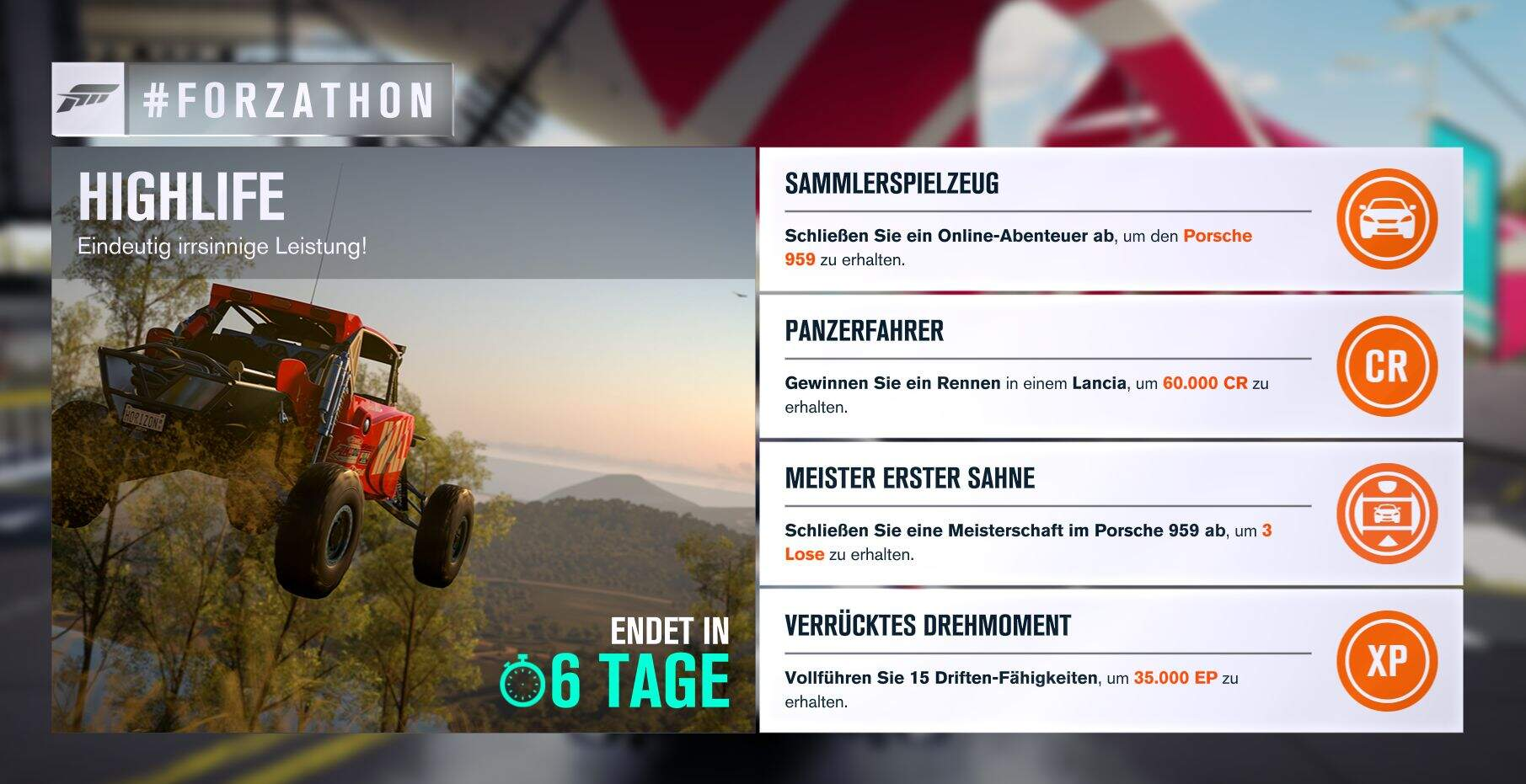 Forza Horizon 3 #Forzathon Guide KW 36 – Highlife