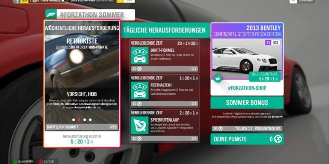 Forza Horizon 4 #Forzathon Guide KW 39 – Retrokiste