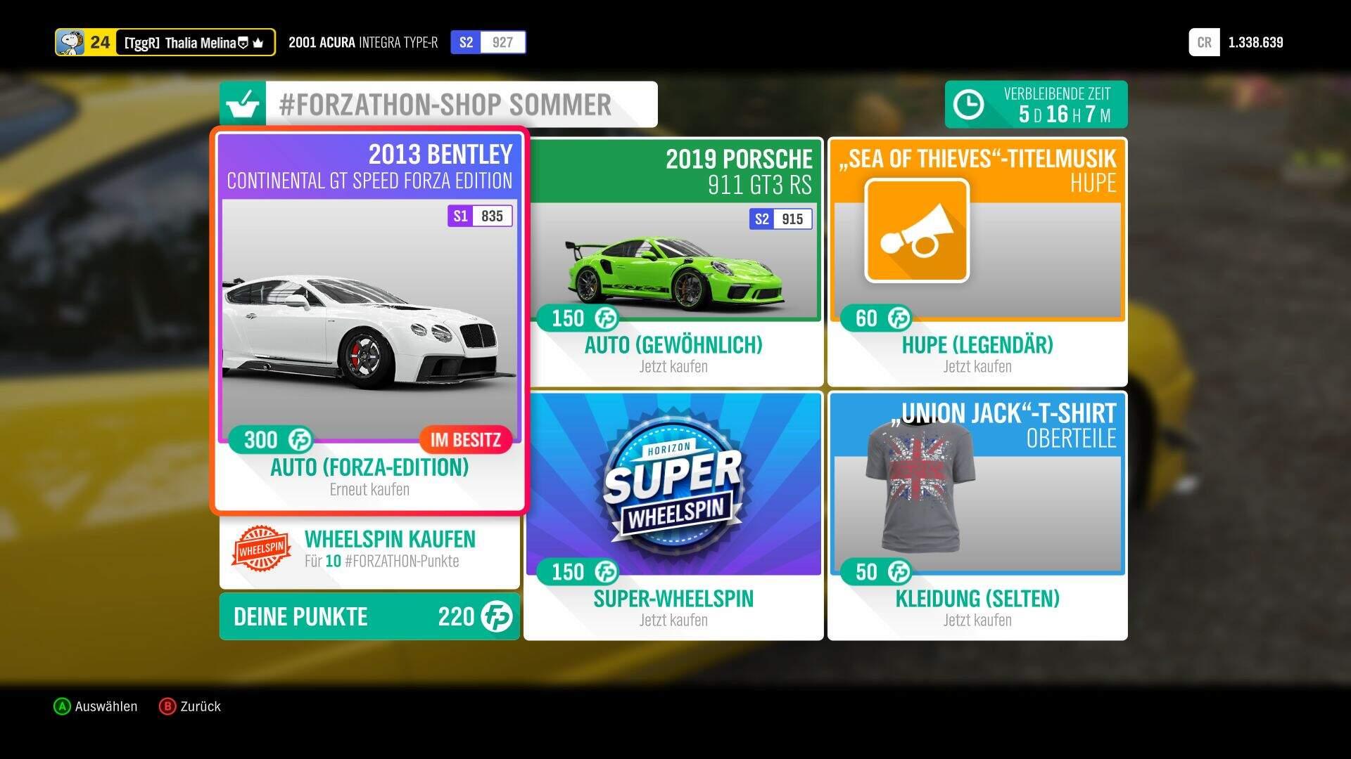 Forza Horizon 4 #Forzathon Sommer-Forzathon-Shop