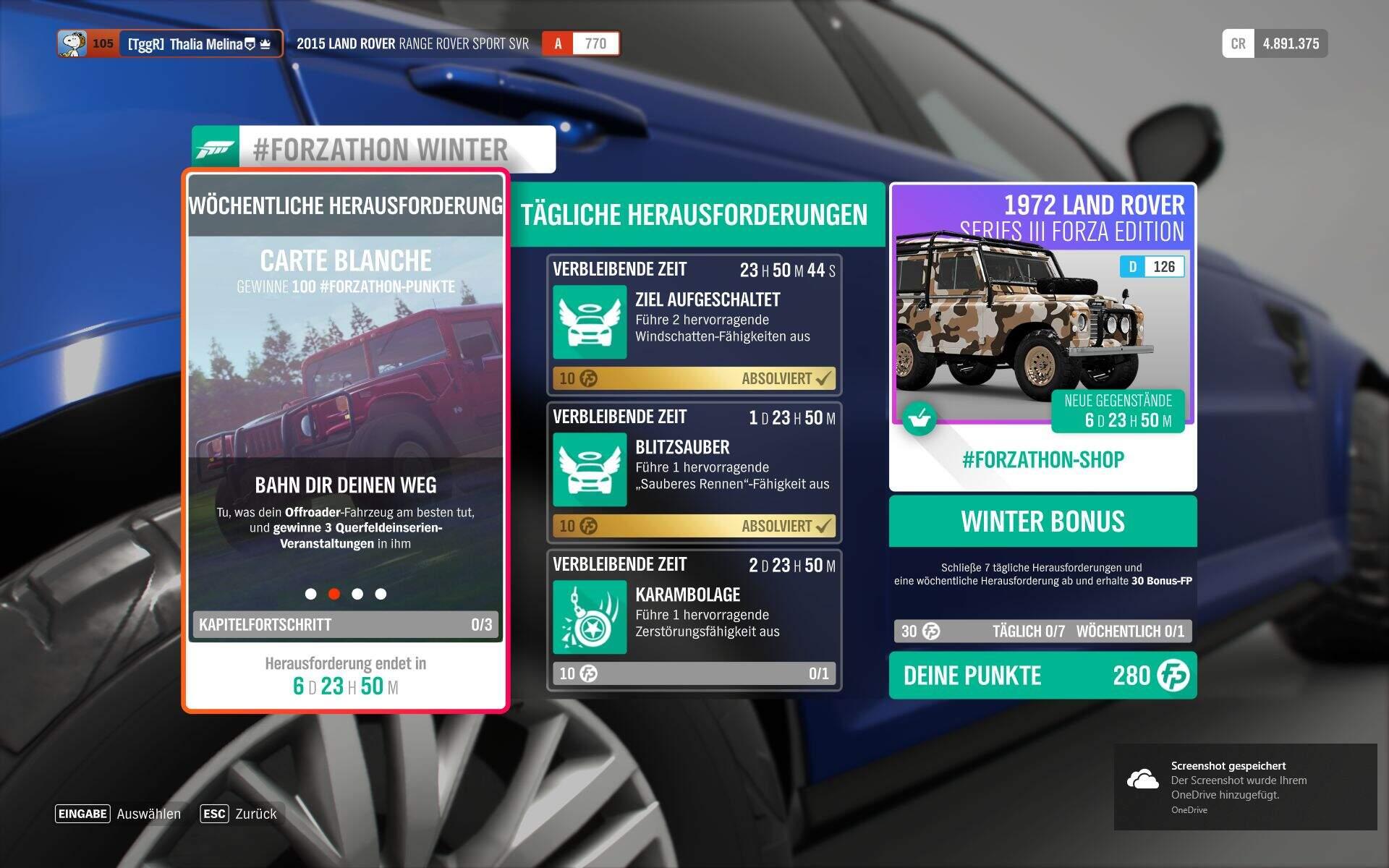 Forza Horizon 4 #Forzathon Guide KW 41 – Carte Blanche Aufgabe 2