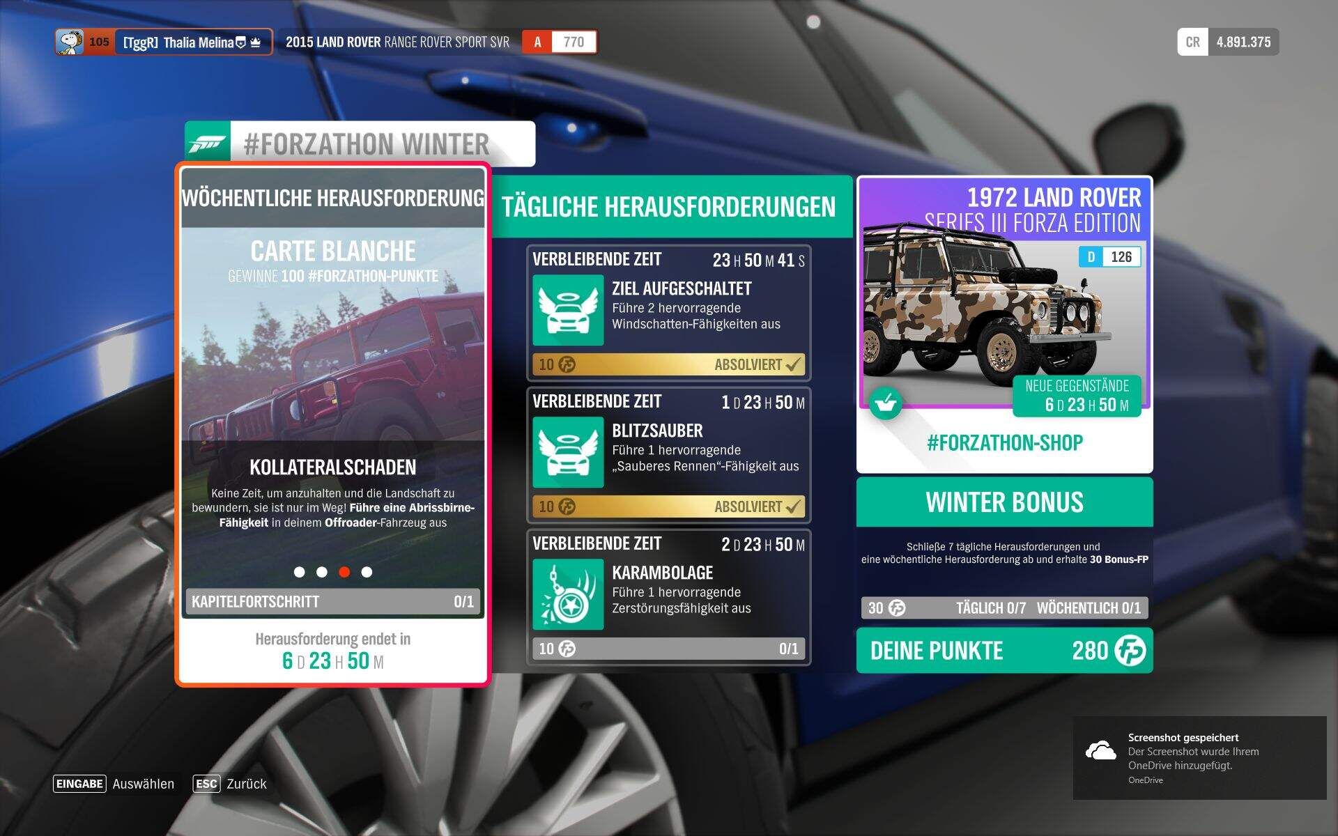 Forza Horizon 4 #Forzathon Guide KW 41 – Carte Blanche Aufgabe 3