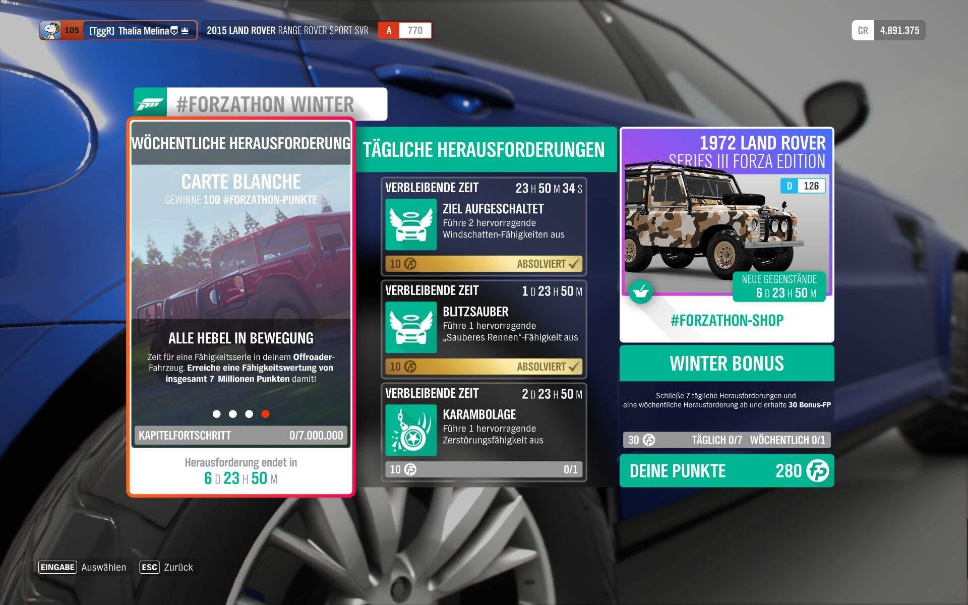 Forza Horizon 4 #Forzathon Guide KW 41 – Carte Blanche Aufgabe 4