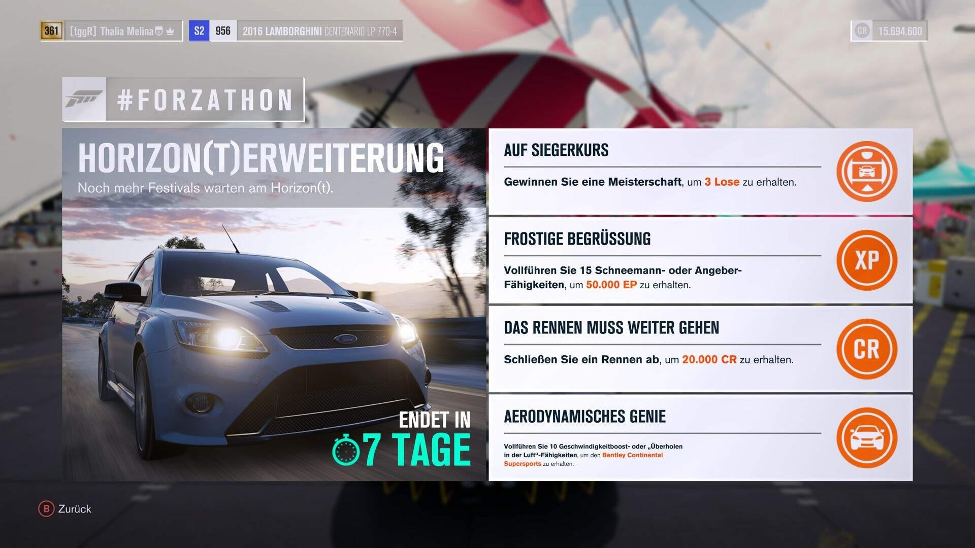 Forza Horizon 3 #Forzathon Guide KW 40 – Hoirzon(t)erweiterung