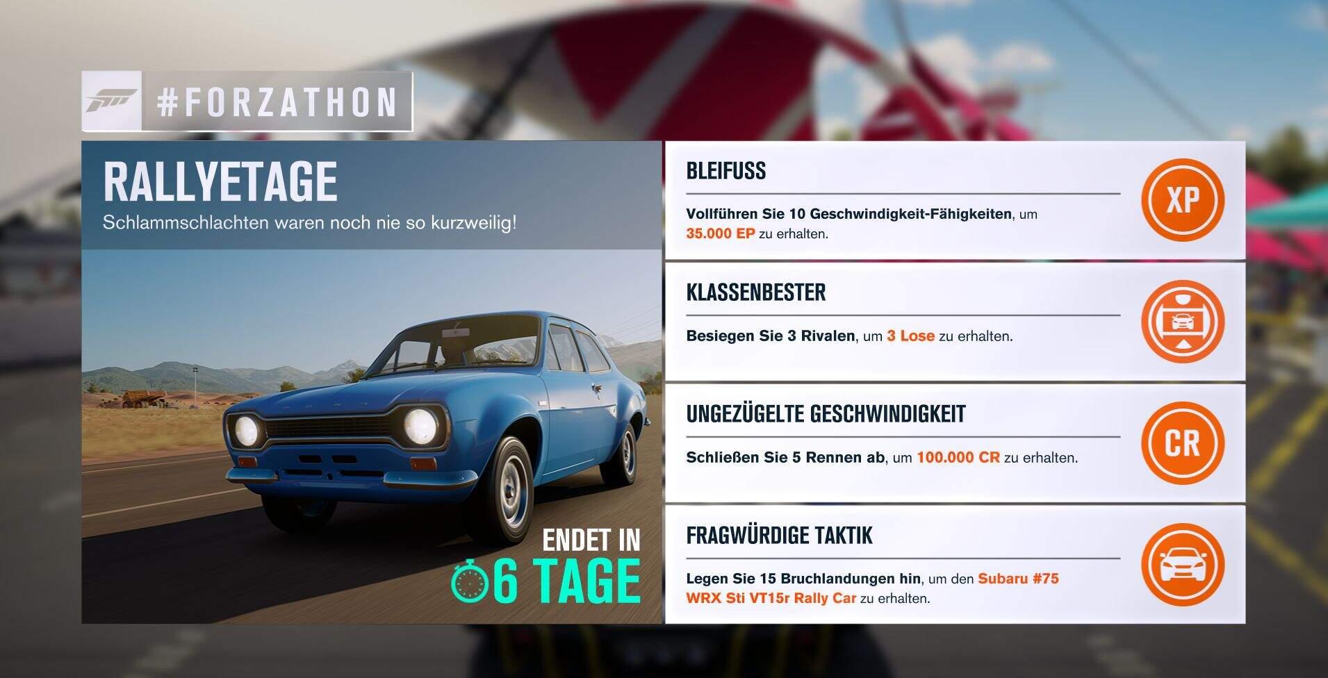 Forza Horizon 3 #Forzathon Guide KW 41 – Rallyetage