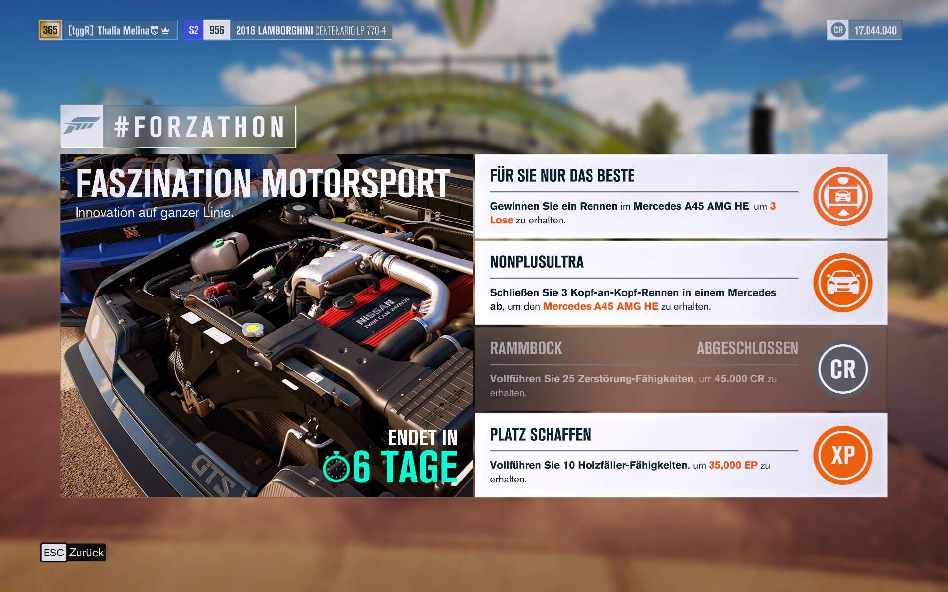 Forza Horizon 3 #Forzathon Guide KW 42 – Faszination Motorsport