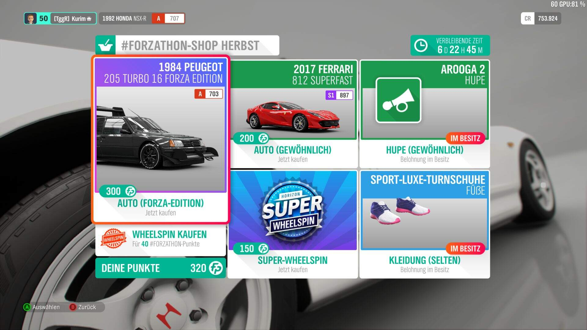 Forza Horizon 4 Forzathon-Shop KW 40