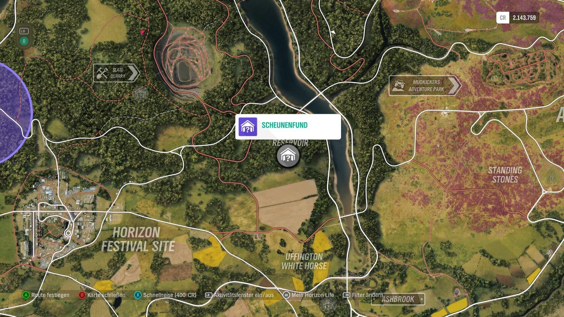 Forza Horizon 4 Audi Sport quattro Location