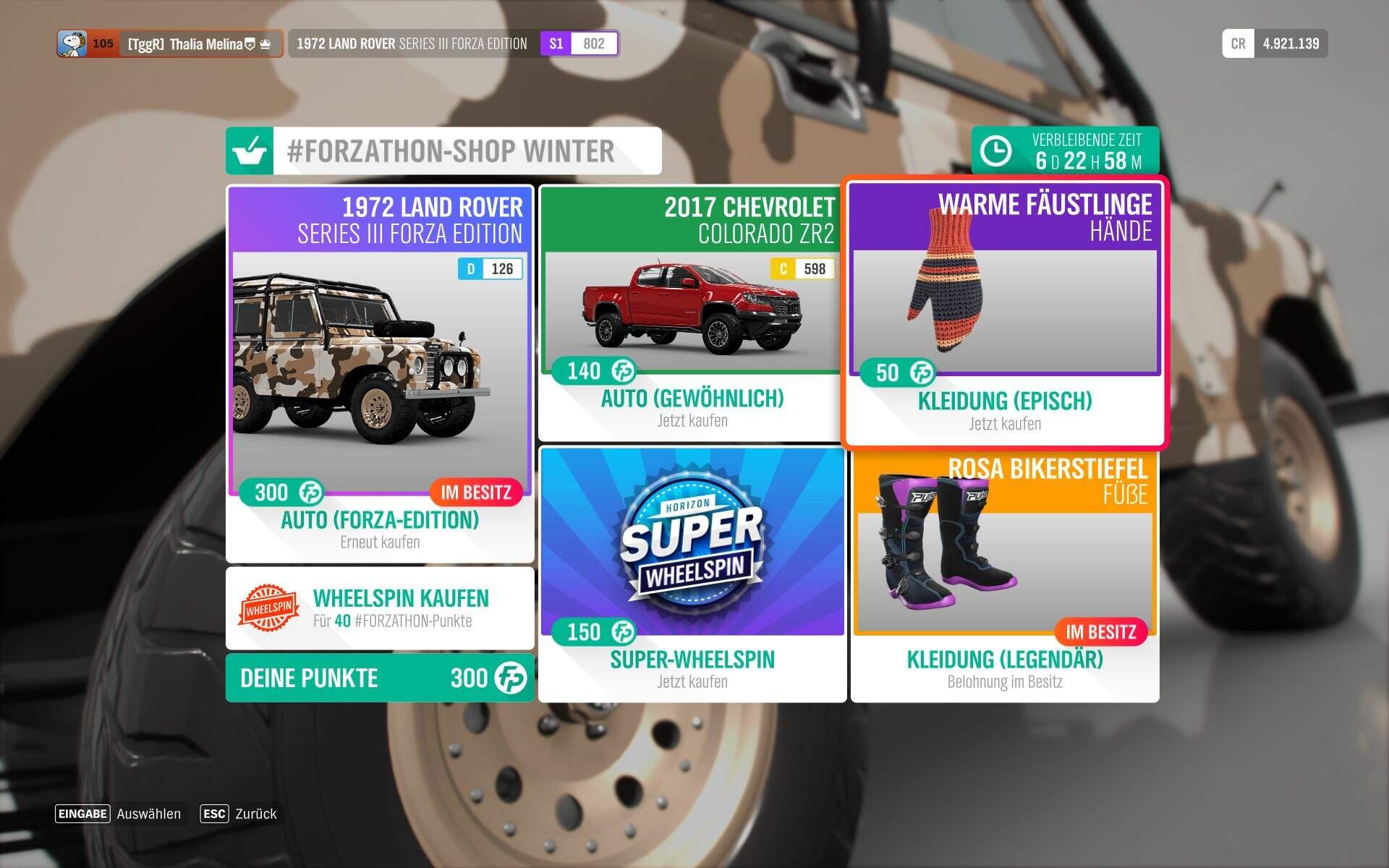 Forza Horizon 4 Winter Forzathon-Shop
