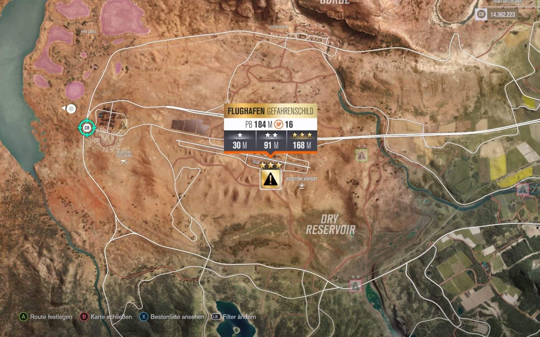 Forza Horizon 3 Flughafen Gefahrenschild
