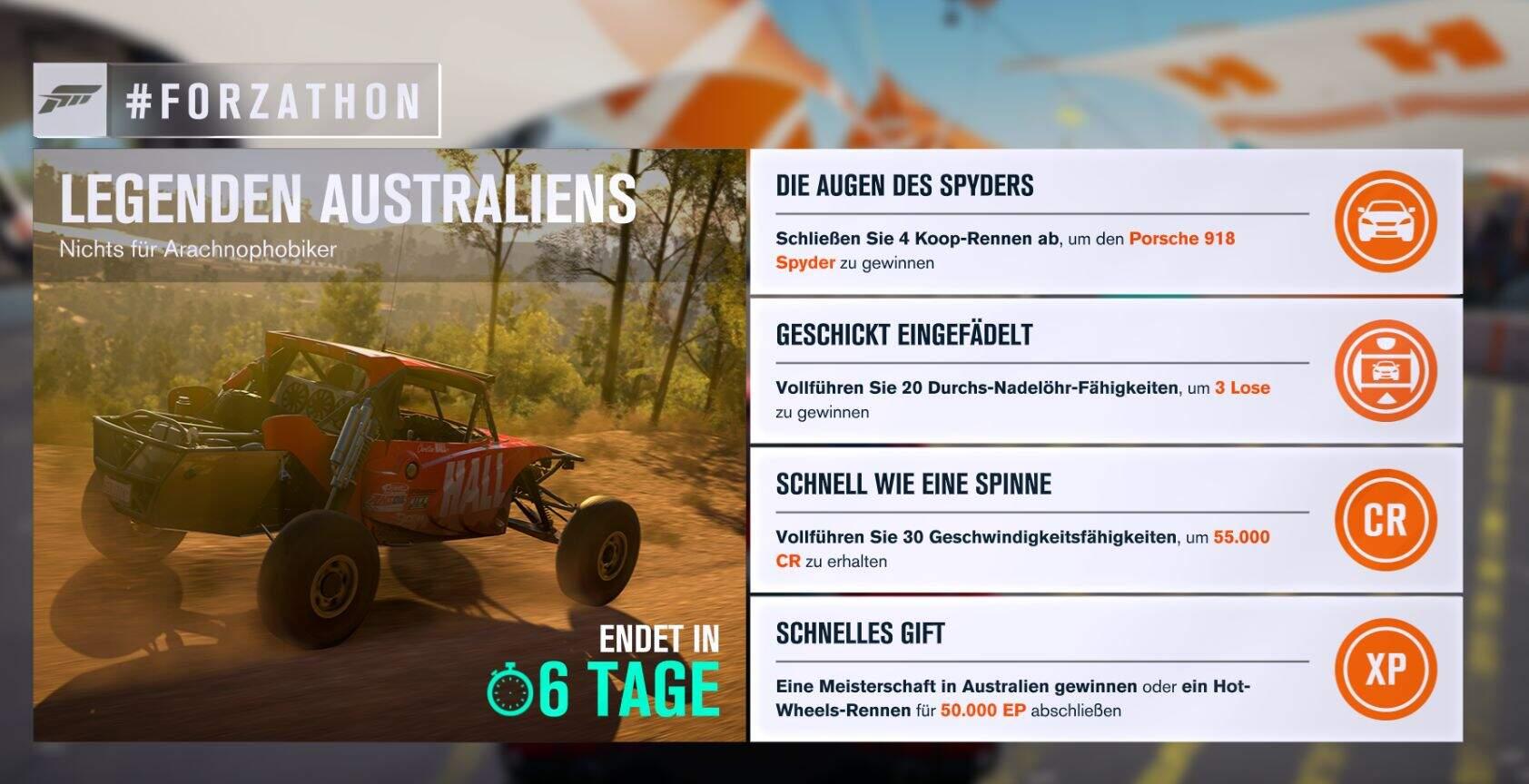 Forza Horizon 3 #Forzathon Guide KW 45 – Legenden Australiens