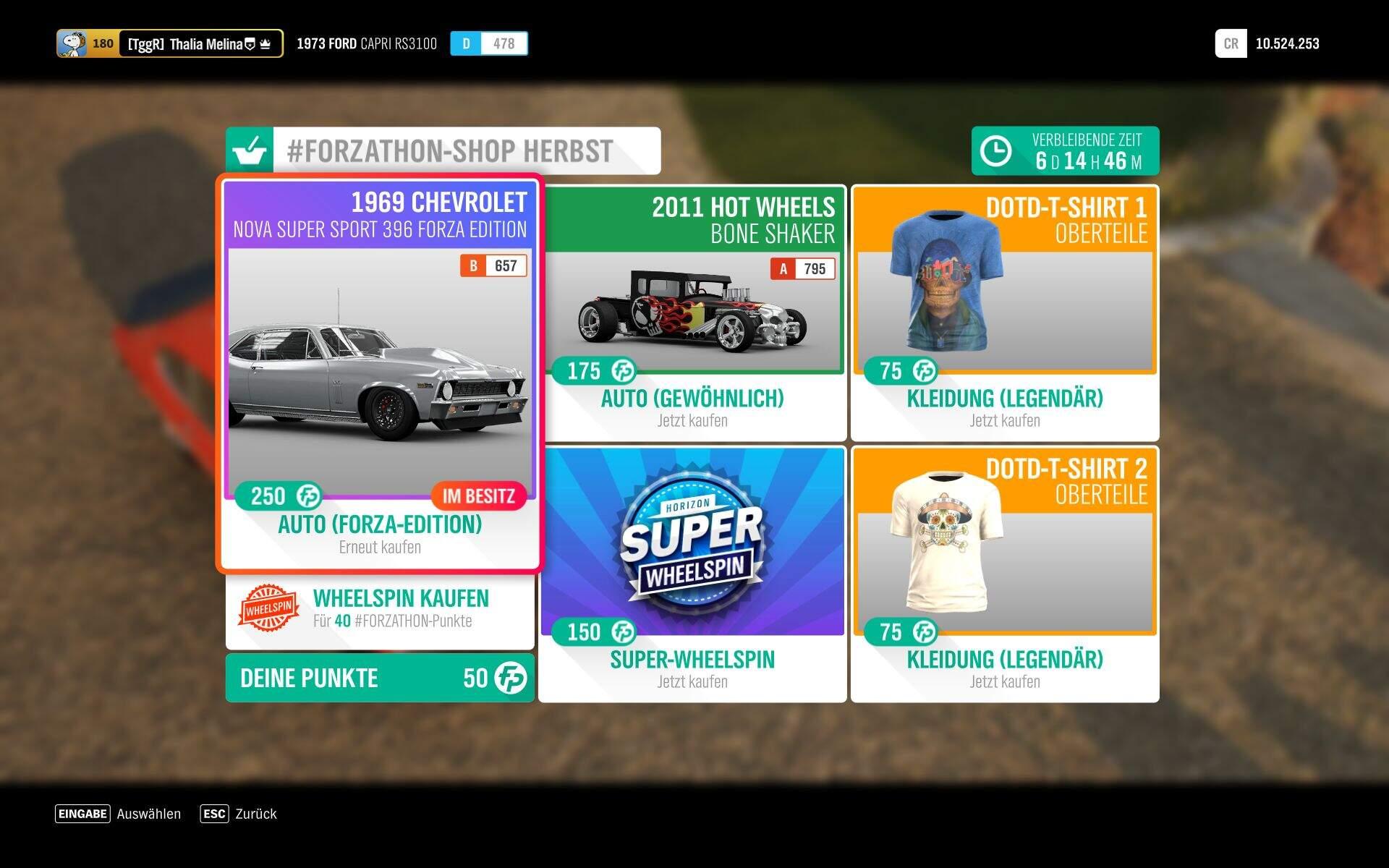 Forza Horizon 4 Forzathon Shop KW 44
