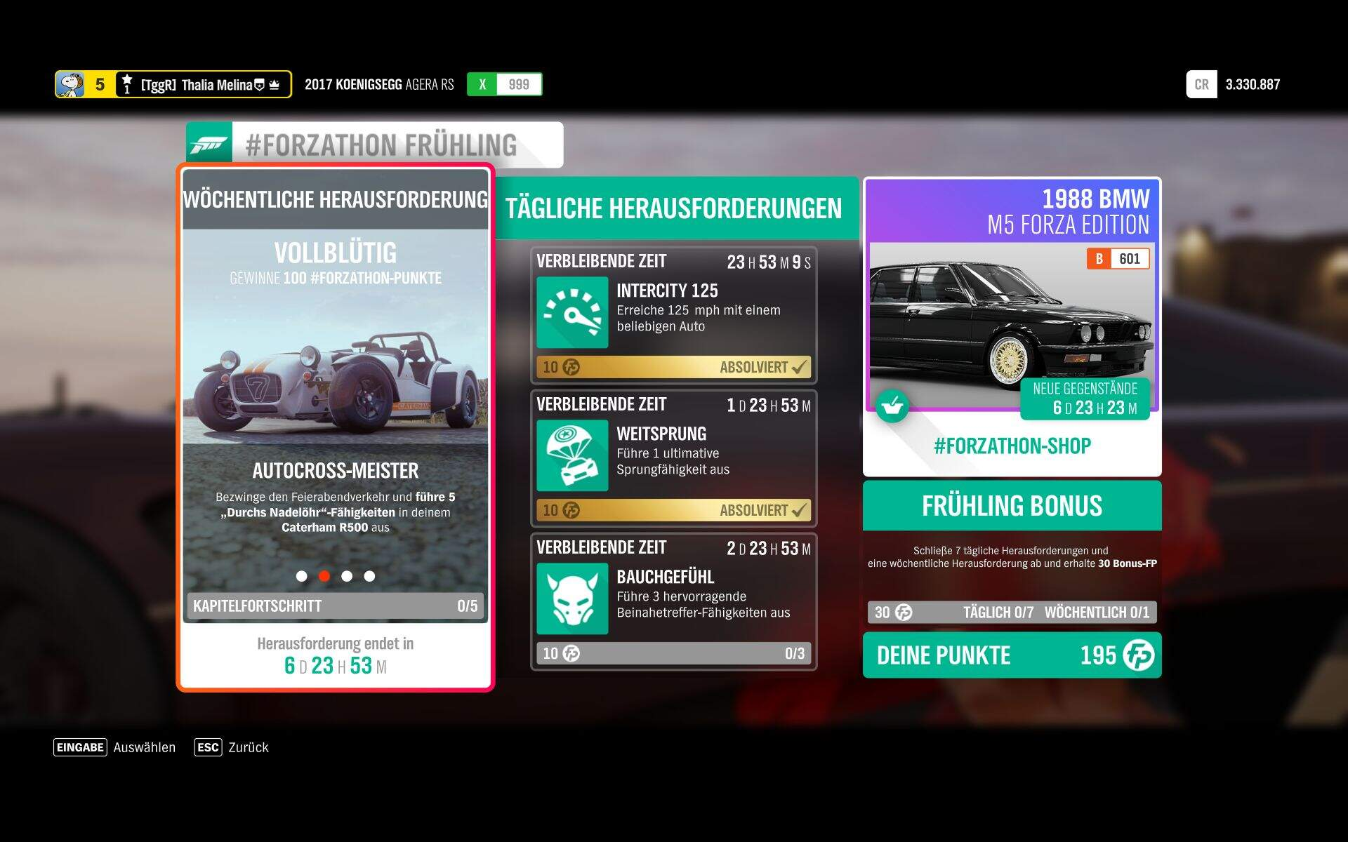 Forza Horizon 4 #Forzathon KW 46 – Vollblütig Aufgabe 2