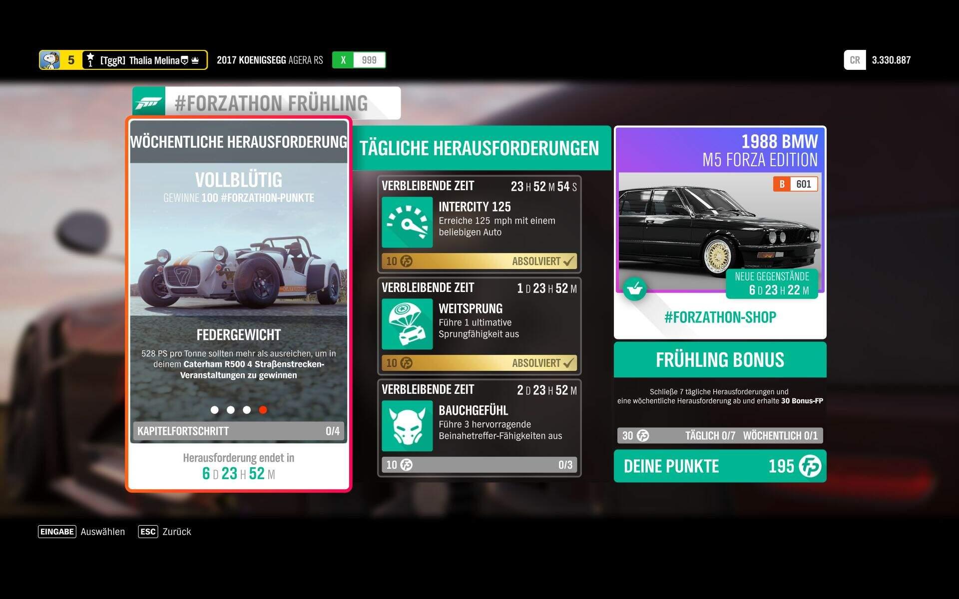 Forza Horizon 4 #Forzathon KW 46 – Vollblütig Aufgabe 4