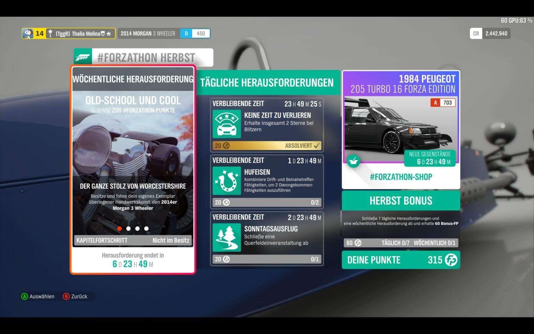 Forza Horizon 4 #Forzathon KW 48 Aufgabe 1