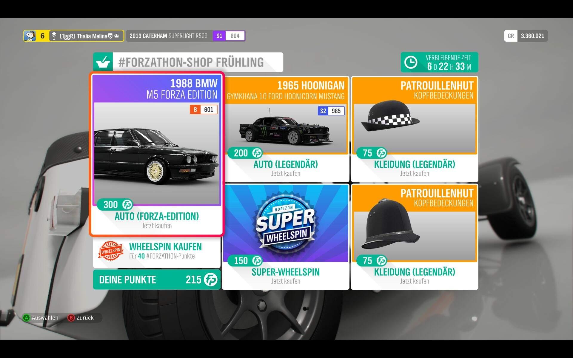 Forza Horizon 4 #Forzathon KW 46 Shop-Angebot
