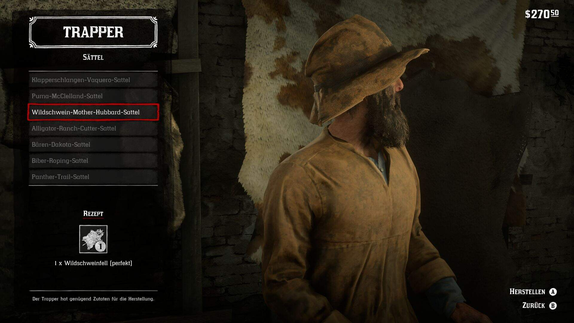 Red Dead Redemption 2 Trapper