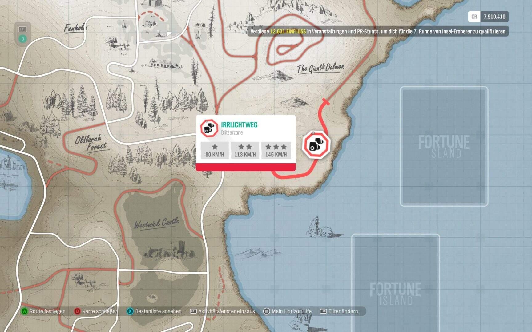 Forza Horizon 4 Fortune Island Irrlichtweg