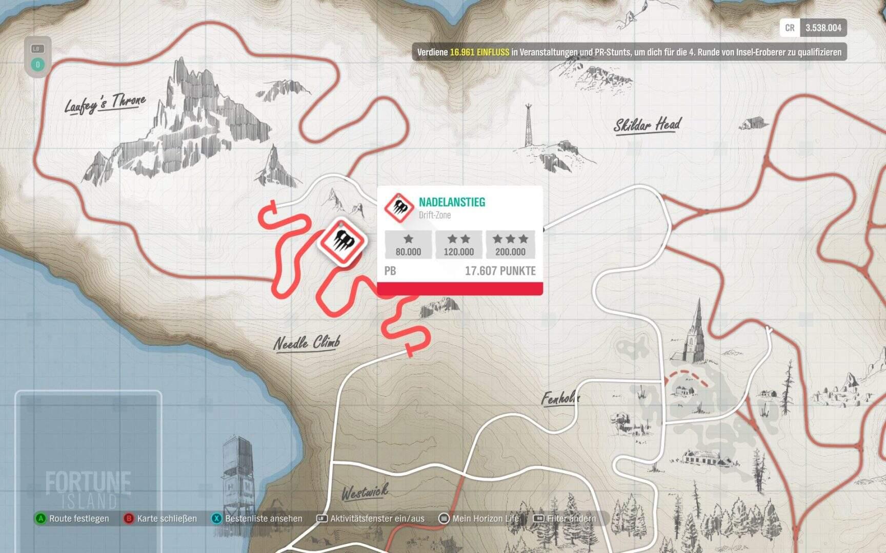 Forza Horizon 4 Fotune Island Nadelanstieg