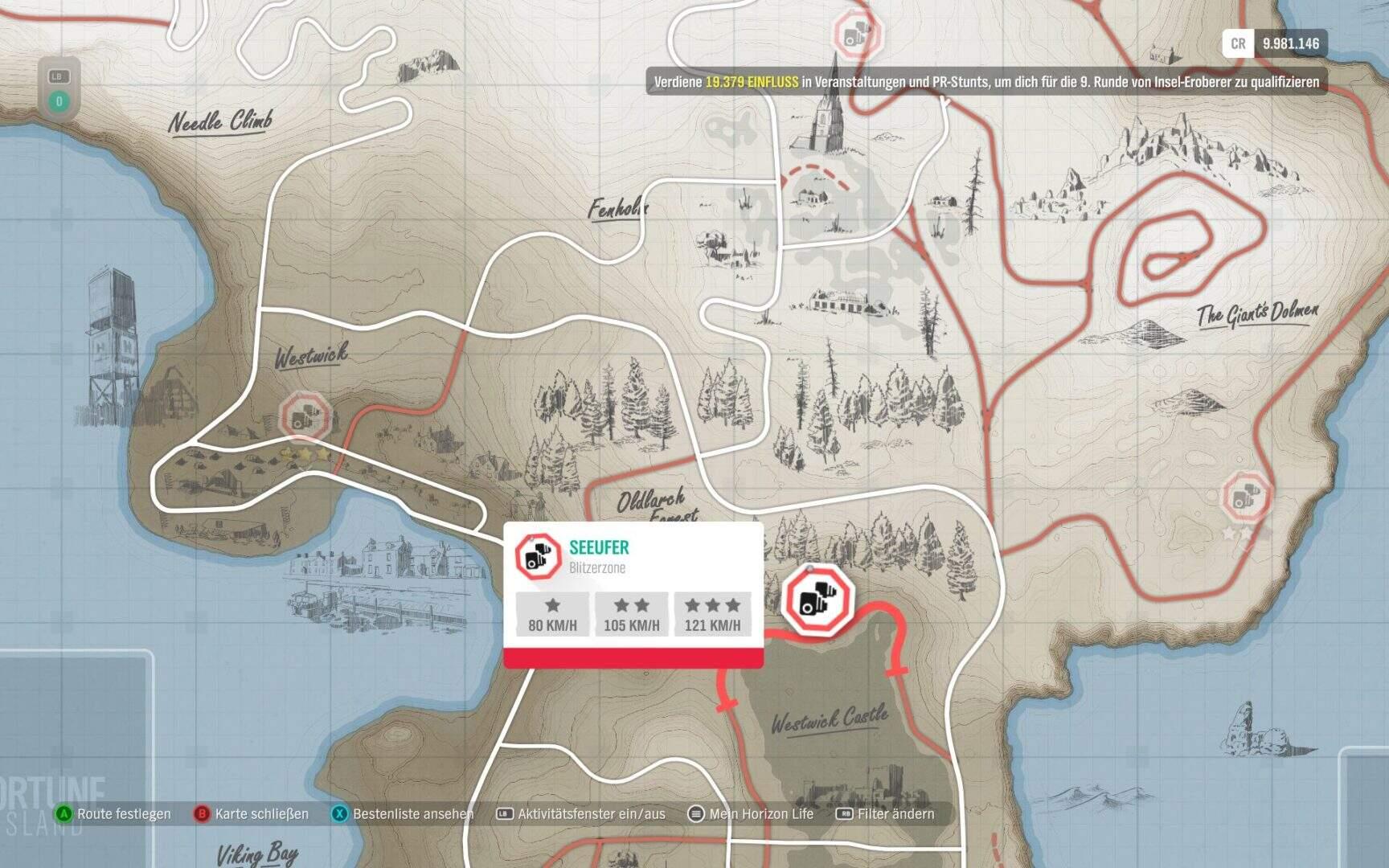 Forza Horizon 4 Fortune Island Seeufer Blitzerzone