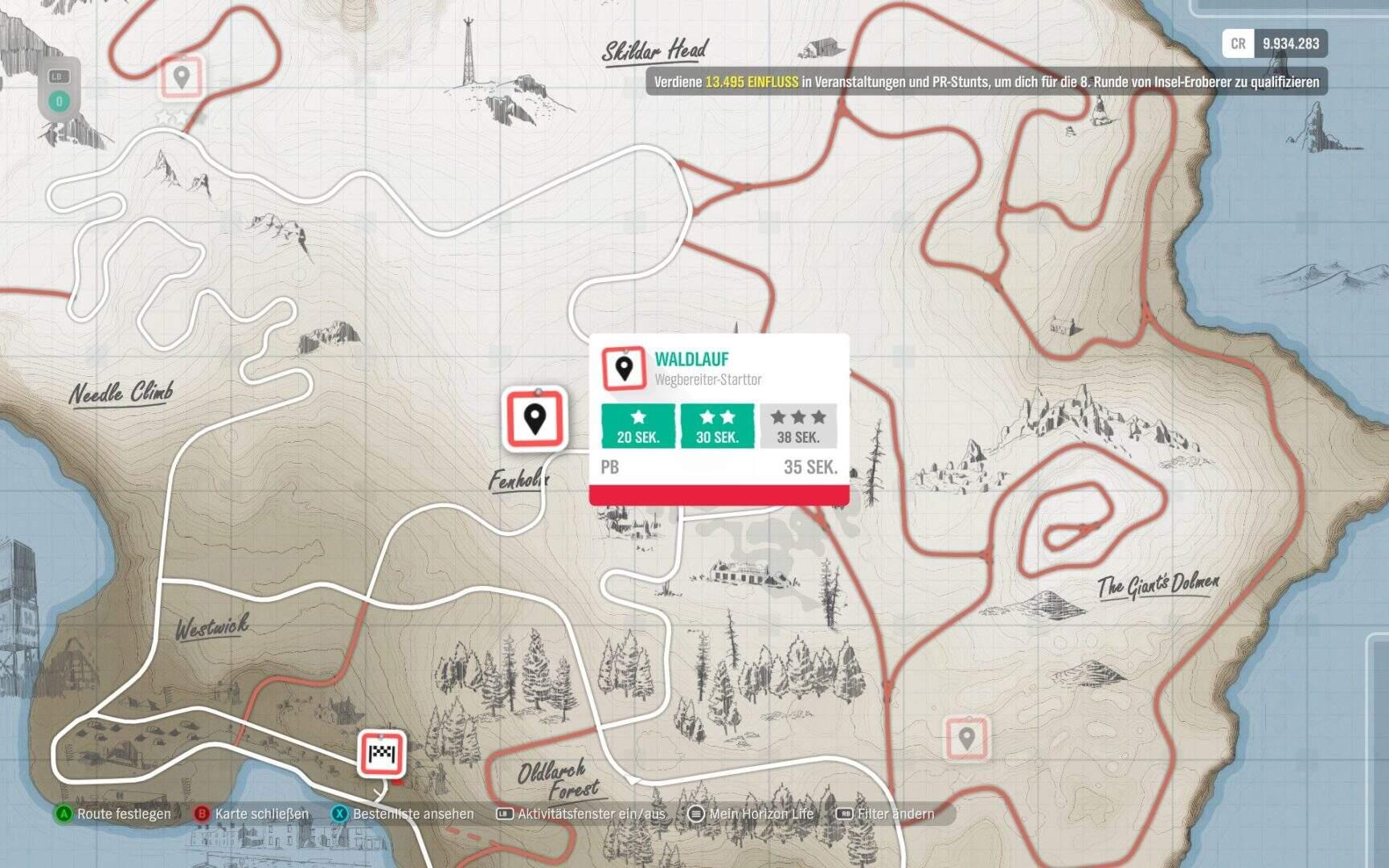 Forza Horizon 4 Fortune Island Wegbereiter Waldlauf