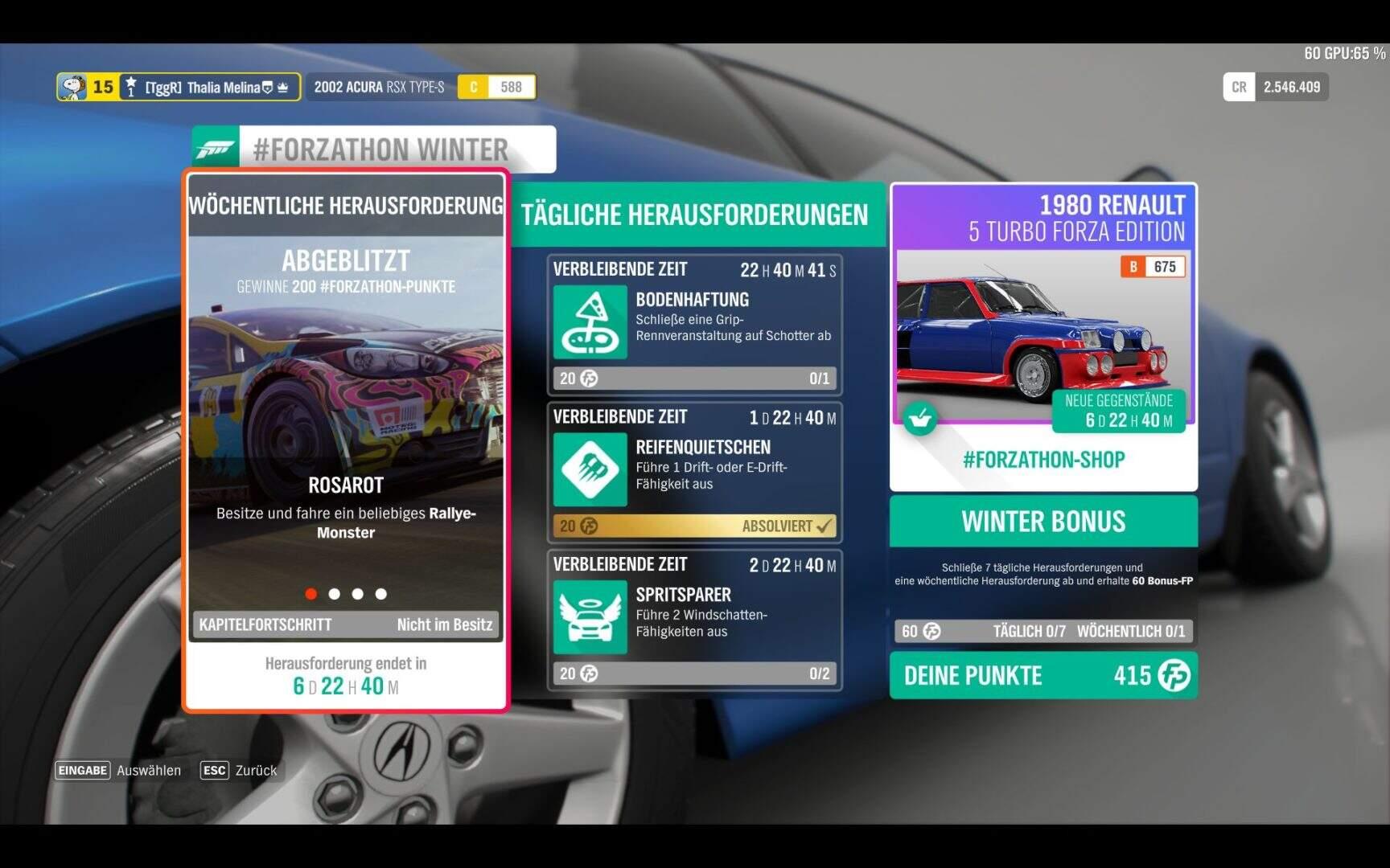 Forza Horizon 4 #Forzathon KW 49 Aufgabe 1